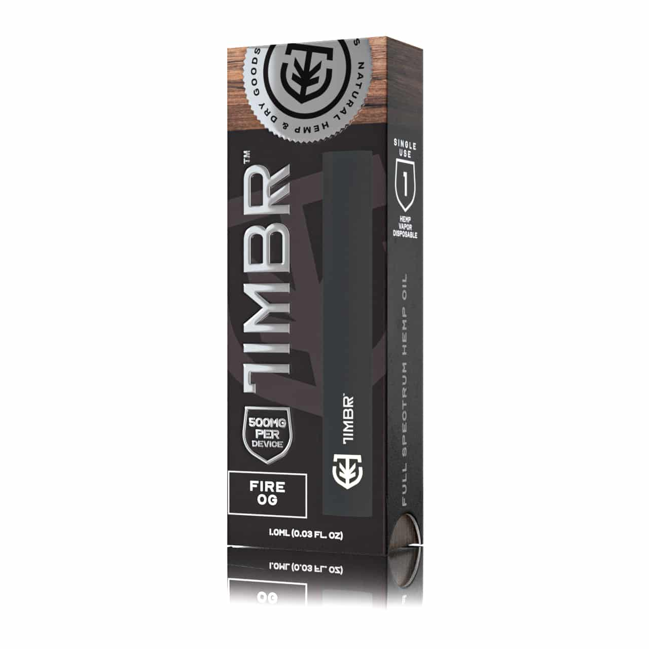 Timbr 500mg - Fire OG Strain - Hemp Disposable CBD Pen